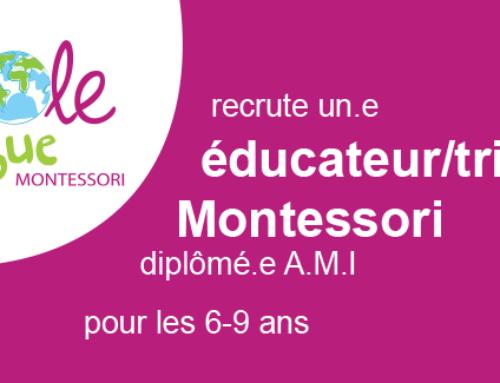 Offre d'emploi d'Educatrice Montessori  6-9 ans